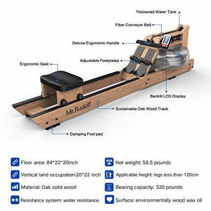 Picture of Mr Rudolf Oak Wood Water Rowing Machine