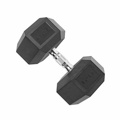 Picture of CAP Barbell Coated Hex Dumbbell with Contoured Chrome Handle, Single, 25 Pounds