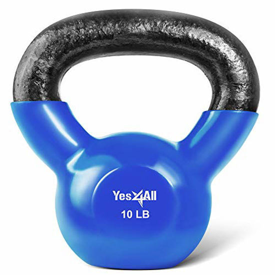 Picture of Yes4All Vinyl Coated Kettlebell Weights Set