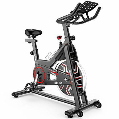 Picture of Rinkmo Spin Bike, Stationary Indoor Cycling Bike With Belt Drive