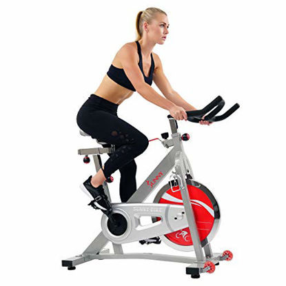 Picture of Sunny Health & Fitnees - 40 LB Flywheel Belt Drive Pro Indoor Cycling Exercise Bike