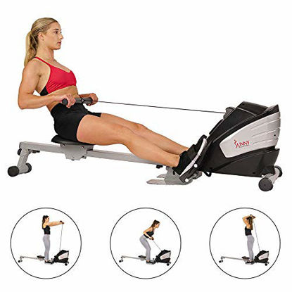 Picture of Sunny Health & Fitness SF-RW5622 Dual Function Magnetic Rowing Machine