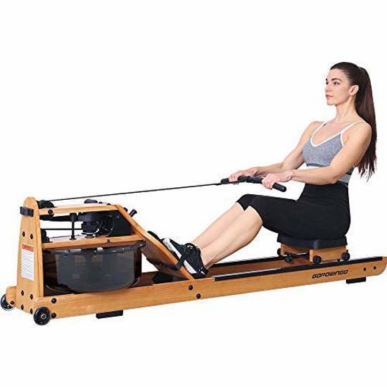 Picture of gorowingo Water Rower Rowing Machine,Wooden Indoor Row Machine