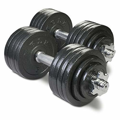 Picture of TELK Adjustable Dumbbells (105 LBS Pair) with Gloss Finish