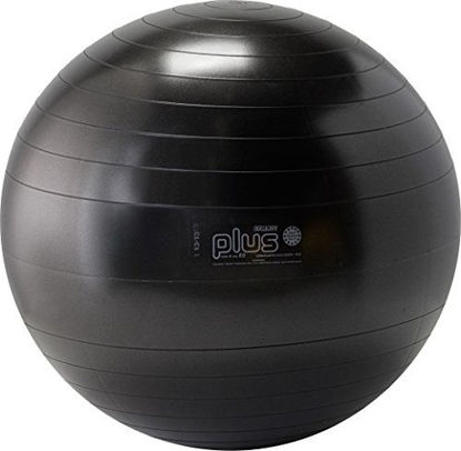Picture of Gymnic Plus Burst-Resistant Exercise Ball, Black (65 cm)