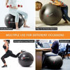 Picture of SPORUS Exercise Ball Chair (65cm), Yoga Ball for Office and Fitness with Stability Ball Base & Workout Poster, Improve Balance