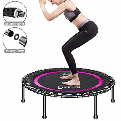 Picture of DARCHEN 450 lbs Mini Trampoline for Adults, Indoor Small Rebounder Exercise Trampoline for Workout Fitness