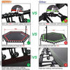 """Picture of ONETWOFIT 48"""" Silent Mini Trampoline with Adjustable Handle Bar"""