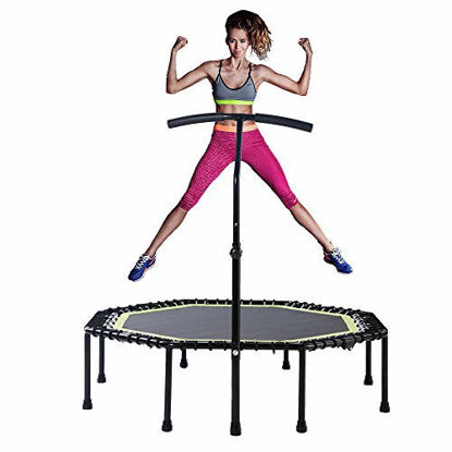Picture of Gulujoy Foldable Mini Trampoline Silent Spingfree Fitness Rebounder