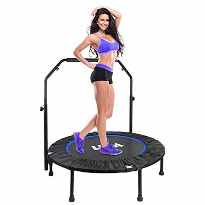 """Picture of Foldable 40"""" Mini Trampoline, Max. Load 330lbs Fitness Rebounder"""