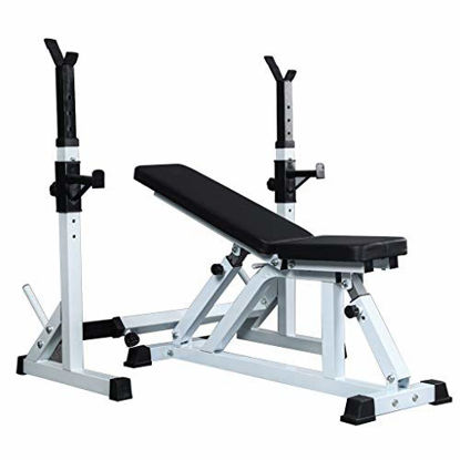 Picture of Adjustable Benches Squat Rack Weight Table