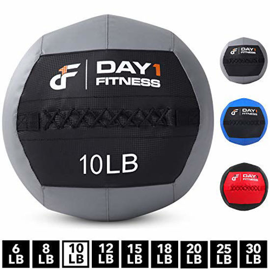 Picture of Day 1 Fitness Soft Wall Medicine Ball 10 Pounds