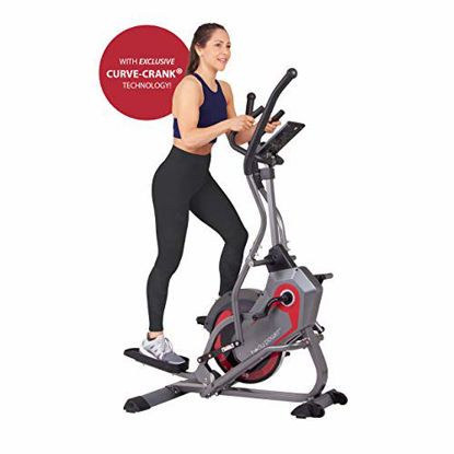 Picture of Body Power 2-in-1 Elliptical Stepper Trainer with Curve-Crank Technology