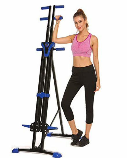 Picture of Stair Climber Machine Folding Climbing Exercise Machine Vertical Climbing Exercise Machine for Home Gym Fitness (Blue)