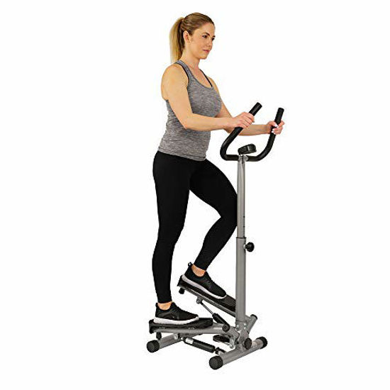 Picture of Sunny Health & Fitness Twist Stepper Step Machine w/Handle Bar and LCD Monitor - NO. 059