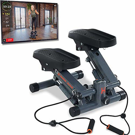 Picture of Women's Health Men's Health Bluetooth Cardio Stair Stepper with Adjustable Resistance Bands and with MyCloudFitness App