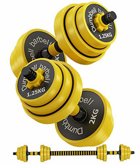 Picture of Bibowa Adjustable Dumbbells Set,12,15,19,25,30,32,44 Lb Multifunction Weights Dumbells Set with Connector Options