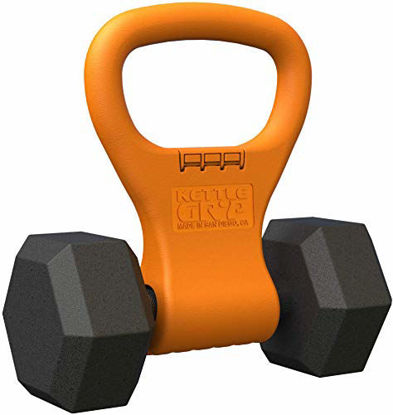 Picture of Kettle Gryp - Kettlebell Adjustable Portable Weight Grip Travel Workout Equipment Gear for Gym Bag, Crossfit WOD, Weightlifting, Bodybuilding, Lose Weight | Clamps to Dumbbells | Made in U.S.A.