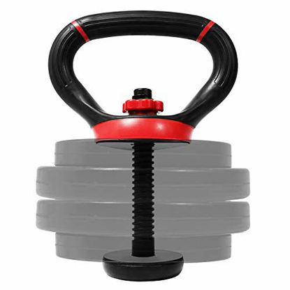Picture of Yes4All Adjustable Kettlebell Handle/Kettlebell Handle for Plates – Kettlebell Weight Handle Supports up to 100lbs & Fits 1 & 2-Inch Weight Plates