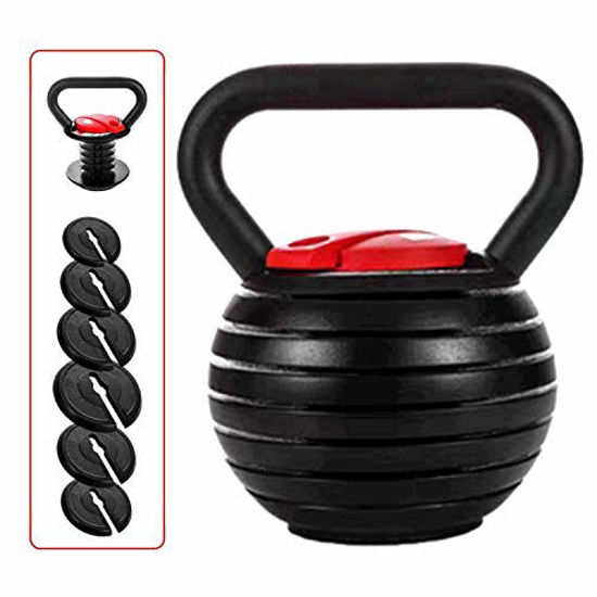Picture of shanchar Adjustable Kettlebell Weight Sets,Kettlebell10 15 20 25 30 35 40 Lb Great Assistant for Home Office Fitness.
