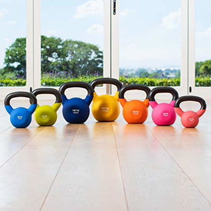 Picture of METIS Neoprene Kettlebells – 9lbs to 44lbs Home Training and Gym Fitness – Heavy Lifting Weights (22lbs)