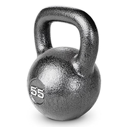 Picture of Marcy HKB-055 Hammertone Kettlebell, 55 lb, Black