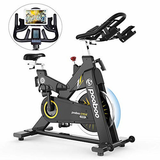 Picture of pooboo Indoor Cycling Bike Stationary Bike Commercial Standard Exercise Bike
