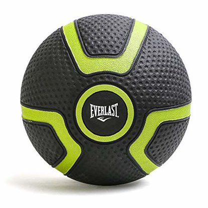Picture of Everlast Medicine Ball Textured Grip – for Weighted Slam Ball Workout | Strength, Balance, Core Training | Wall Ball Exercise | Durable Non-Slip Rubber (P00001794)