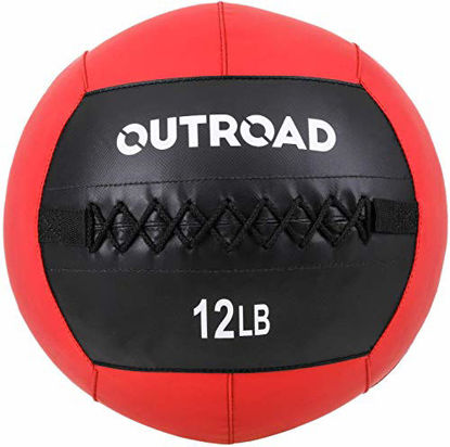 Picture of Max4out Wall Ball Medicine Balls, 12lbs Dead Weight Balls for Crossfit, Strength and Conditioning Exercises, Cardio and Core Workout, Red