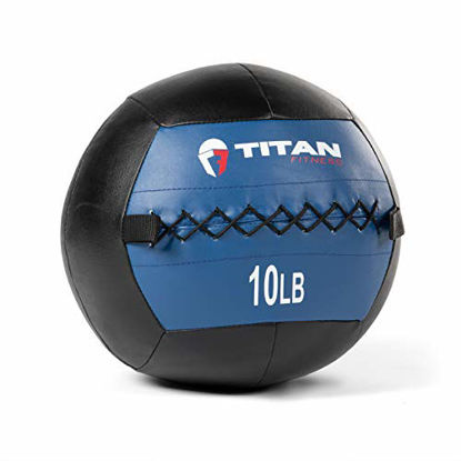 Picture of Titan Fitness 10 LB Wall Medicine Ball Core Workout Cardio Muscle Exercises Strength