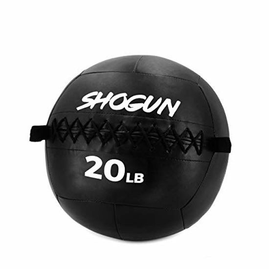 Picture of Shogun Sports Soft Wall Ball. Durable Medicine Ball for Strength, Conditioning, Cardio and Cross Training. Ideal for Wall Balls, Lunges, Partner Toss, Twists. Available in (10, 14, 20 LB) (20 LB)