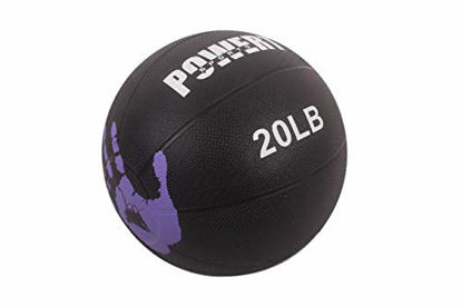 Picture of POWERT Weighted Medicine Ball for Core Muscle Workout, Cardio Fitness Exercise & Physical Therapy (F-20 lbs)