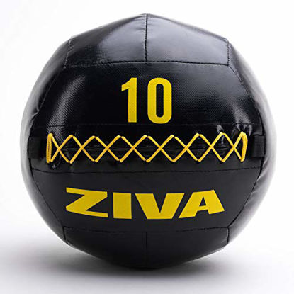 "Picture of ZIVA Commercial-Grade Soft Wall Ball - Medicine Slam Ball for Slamming, Bouncing, Throwing - Exercise Ball for Crossfit, Plyometrics, Cross Training - 10 lbs, 13.7"" Diameter"