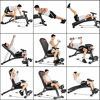 Picture of Adjustable 90°Flat Weight Bench Training Bench for Full Body Workout Multifunctional Foldable Fitness Flat Bench Weighted 300lb for Home Gym Incline Decline Perfect for Bench Press Sit-ups Leg Lifts