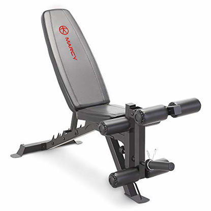Picture of Marcy Adjustable 6 Position Utility Bench with Leg Developer and High Density Foam Padding SB-350