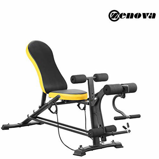 Picture of ZENOVA Adjustable Weight Bench, Flat Incline Decline Multistage Exercise Workout Bench with Leg Extension and Curl,Training Bench for Full Body Workout