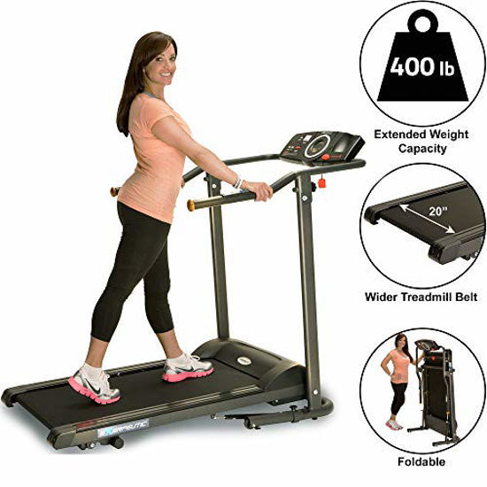Picture of Exerpeutic TF1000 Ultra High Capacity Walk to Fitness Electric Treadmill, 400 lbs