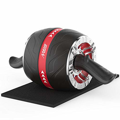 Picture of MKHS Ab Roller Wheel for Abs Workout, ab Wheel Roller for core Workout, ab Workout Equipment for Home Gym, Heavy Duty ab Roller for abs Workout - ab Roller Wheel for Abdominal Exercise