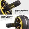 Picture of AUOPLUS Ab Roller for Abs Workout, 3.5'' Ab Roller Wheel Home Gym Equipment for Abdominal Exercise, Portable Ab Wheel Roller Exercise Equipment with Jump Rope and Knee Mat for Men Women Core Workout