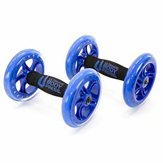 Picture of Ultimate Body Press Chest and Ab Wheel Rollers with Independent Ball Bearing Wheels for Fast Upper Body and Abdominal Results