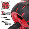 Picture of Ab Roller Wheel, Core Exercise Stomach Abdominal Power Trainer Spring Back Rolling Abs Excersize Gym Fitness Rollers Equipment, Resistance Portable Wide Travel Rebound Retractable Carver Roller For Fitnessary Fitnessery Pulling System/Men/Women/Home Workout Machine