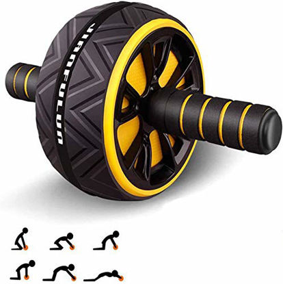 Picture of T-link Ab Roller for Abs Workout, Ab Roller Wheel Exercise Equipment for Core Workout, Ab Wheel Roller for Home Gym, Ab Workout Equipment for Abdominal Exercise