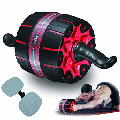 Picture of Fixdono Wide Ab Roller Wheel for Abs Workouts, 9 inch Ab Wheel Exercise Equipment with Knee Mat for Home Gym Abdominal Exercise,Fitness Abs Wheel for Core Workouts for Men and Women