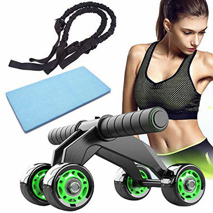 Picture of Bingfone Ab Wheel Roller Kit for Abdominal Exercise