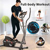 Picture of ANCHEER Elliptical Cross Trainer Machine for Home Use, Magnetic & Quiet, Compact Eliptical Exercise Machine for Indoor Fitness & Workout with Adjustable Resistance (Gray)