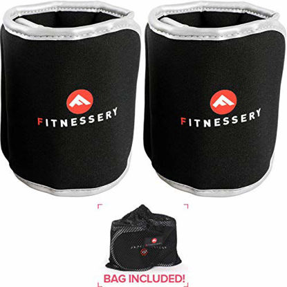 Picture of Ankle Weights (3 Pounds x 2) - Ankle Weights for Women and Men - Wrist Weights for Women and Men - Leg Weights for Women and Men - Arm Exercise Weights - Home Gym Workout Equipment - Ankle Weight