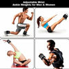 Picture of Prodigen Adjustable Ankle Weights Set for Men & Women Ankle Wrist Weight for Walking, Jogging, Gymnastics (Black, 1lbs Each)