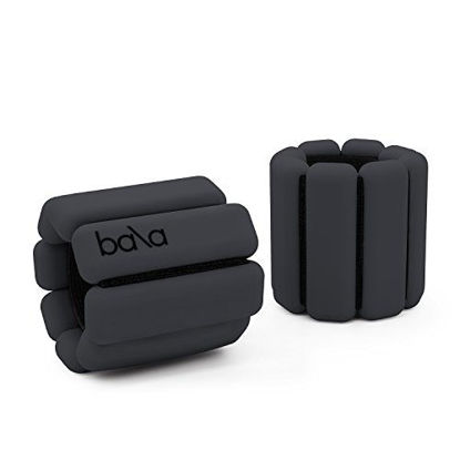 Picture of Bala Bangles   As Seen on Shark Tank   Fully Adjustable Wearable Wrist & Ankle Weights   Yoga, Dance, Barre, Pilates, Cardio, Aerobics, Walking   1 Pound Each, 2 Per Set (Charcoal)