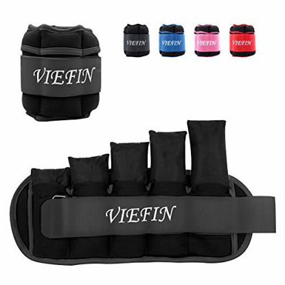 Picture of VIEFIN Ankle Weights for Women, Men and Kids - Strength Training Wrist/Leg/Arm Weight Set with Adjustable Strap for Jogging, Gymnastics, Aerobics, Physical Therapy (from 0.5lbs to 2.5lbs Each)