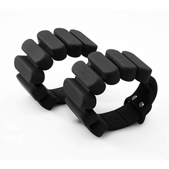 Picture of TOSAMC Durable Wrist Weights - Wearable Weight Bracelet Intensify Fitness, Exercise, Walking, Jogging, Gymnastics, Aerobics, Yoga, Gym; 2pics Set. (Black, 2.0LB)